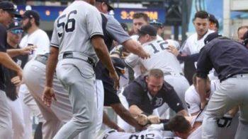Tigers y Yankees protagonizan trifulca