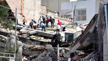 Lleva tres días esperando a su madre en edificio derrumbado en la Roma