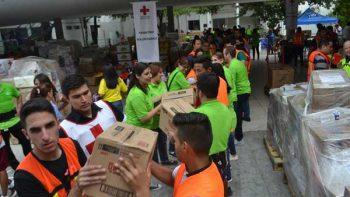 Gracias a la población, la Cruz Roja llevará más de 100 toneladas a damnificados