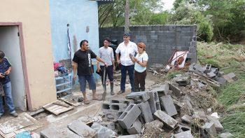 Más de 250 familias afectadas por lluvia en municipio de Juárez