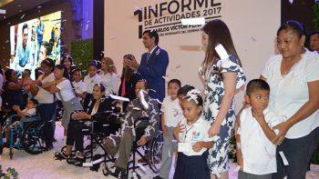 Rinde informe Carlos Peña al frente del DIF municipal