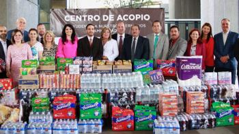 Instala Congreso de Nuevo León centro de acopio