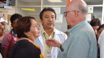 Narro Robles llama a no bajar la guardia a la reconstrucción en Oaxaca