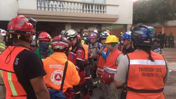 Apoyan Protección Civil del Estado y Municipios rescates en CDMX