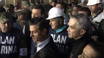 Peña Nieto supervisa acciones de auxilio tras sismo