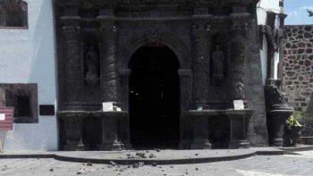 Reportan graves daños en templos coloniales en el Edomex