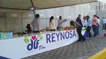 Centro de acopio de víveres se abre en el DIF Reynosa