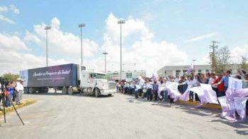 Envía Reynosa casi 90 tons de ayuda a Morelos y Oaxaca