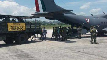 Refuerza Sedena puente aéreo en Chiapas para ayuda humanitaria