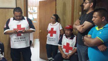 Personal de Cruz Roja Mexicana delegación H. Matamoros suma a trabajos de rescate en la Ciudad de México