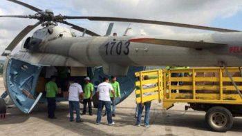 Se desploma helicóptero que trasladaba víveres en Chiapas