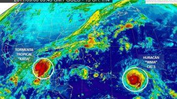 Tampico en peligro por 'Katia'; 'Irma' y 'José' siguen avanzando