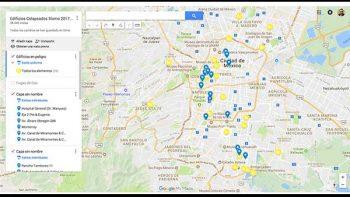Detalla Google Maps edificios dañados tras terremoto en la CDMX