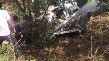 Cae helicóptero que transportaba ayuda para Oaxaca