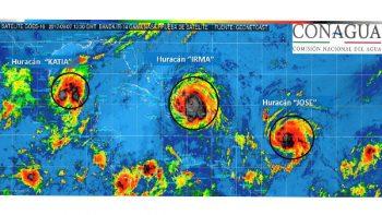 'Katia', 'Irma' y 'José' amenazan huracanes al Golfo y al Caribe