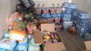 Entregan despensas para familias de heridos en sismo