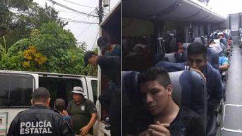 INM rescata a 105 centroamericanos en Oaxaca y Tamaulipas