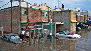 Otra vez inundaciones en Cuautitlán Izcalli y Tultitlán por lluvias