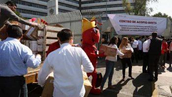 Envía ISSSTE 40 ton. de víveres a damnificados en Chiapas y Oaxaca