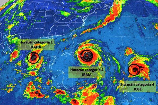 'José' ya es categoría 4 y sigue la trayectoria de 'Irma'