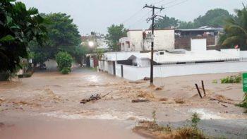 Aumenta cauce de ríos en Chiapas por fuertes lluvias