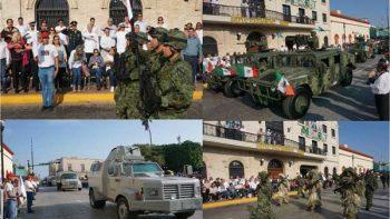 Preside Jesús de la Garza desfile del 207 aniversario de la Independencia