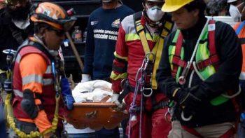 Suman 305 muertos tras el sismo de magnitud de 7.1