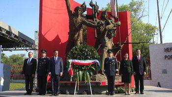 Conmemora Adrián de la Garza a Niños Héroes de Chapultepec