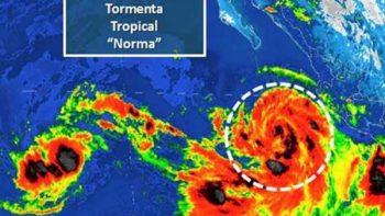 Alerta azul para diez municipios de Sonora por trayectoria de 'Norma'