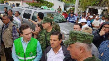Llama Peña Nieto a apoyar reconstrucción de Oaxaca y Chiapas