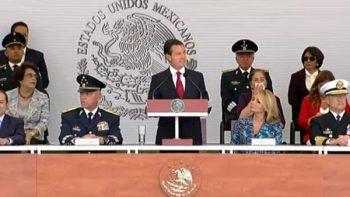 Reconoce Peña Nieto ayuda de Fuerzas Armadas tras sismo