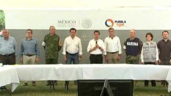 Peña asegura que aún buscan sobrevivientes en edificios colapsados