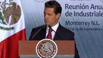 Reconoce Peña Nieto que 2017 fue un año de retos