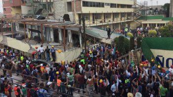 Constructoras apoyan en rescate y remoción de escombros tras sismo