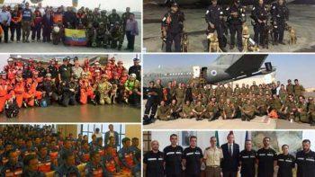 México no está solo; equipos internacionales se unen a rescate