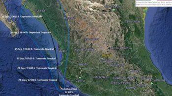 Alertan por tormenta tropical 'Pilar' en el Pacífico