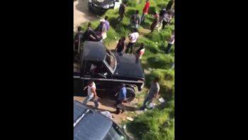 Captan enfrentamiento entre pobladores y policías en Chimalpa