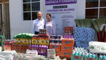 Matamoros recaba más de 10 toneladas de víveres para Chiapas y Oaxaca