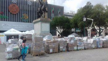 Continúan nuevoleoneses apoyando a damnificados de los terremotos