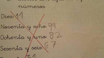 Examen de matemáticas de un niño, divide a las redes sociales