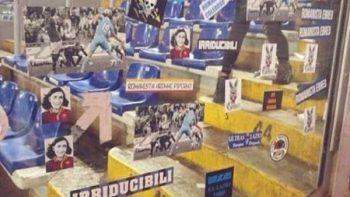 Afición del Lazio se burla del equipo rival con imagen de Anna Frank