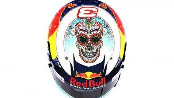 Piloto de Red Bull personaliza su casco por solidaridad a México
