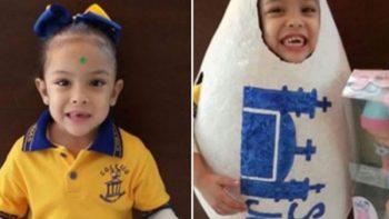 Empresa avícola premia a niña que se vistió como un huevo
