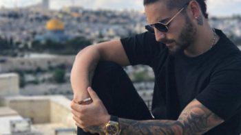 Maluma causa polémica por foto con oficial israelí
