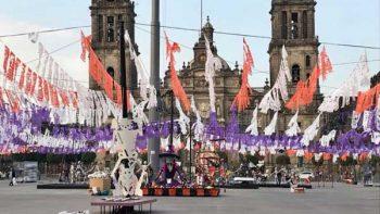 Instalan ofrenda monumental del Zócalo en honor a víctimas del 19-S
