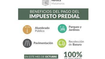 Condona Matamoros recargos en el pago del predial