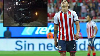 Alan Pulido involucrado en accidente automovilístico
