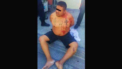 Inhumano hijo golpea a su propia madre en Guadalupe; es detenido