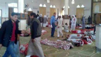 Suman más de 235 muertos por ataque terrorista en Egipto