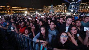 Reúne 120 mil personas concierto de Caifanes en el Zócalo